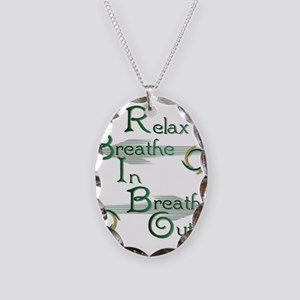 Relax Necklace Oval Charm