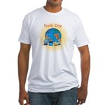 Family Globe Fitted T-Shirt