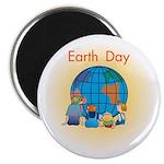 Family Globe Magnet