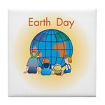 Family Globe Tile Coaster