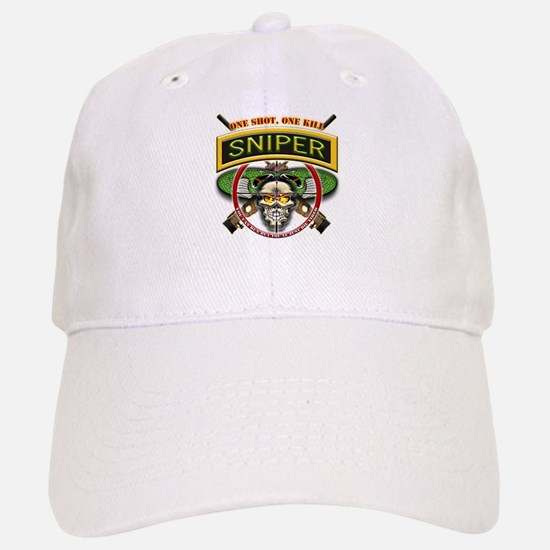 Sniper One Shot-One Kill Baseball Baseball Cap