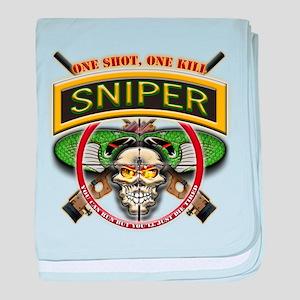Sniper One Shot-One Kill baby blanket