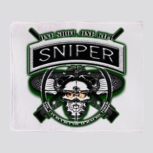 Sniper One Shot, One Kill Throw Blanket