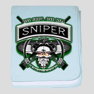 Sniper One Shot, One Kill baby blanket
