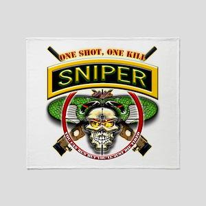 Sniper One Shot-One Kill II Throw Blanket