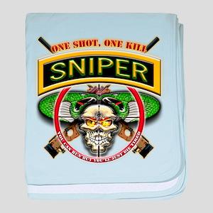 Sniper One Shot-One Kill II baby blanket