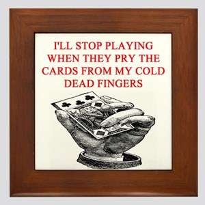 duplicate bridge player joke Framed Tile