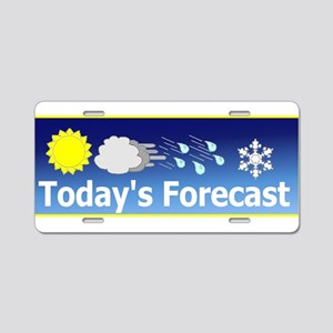 Mixed Forecast Aluminum License Plate