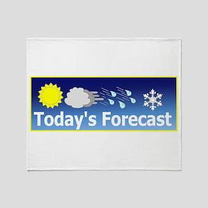 Mixed Forecast Throw Blanket