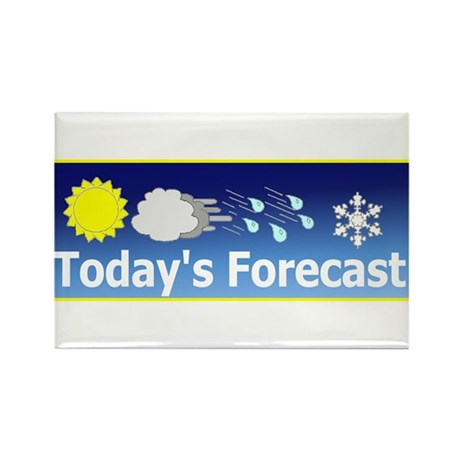 Mixed Forecast Rectangle Magnet (100 pack)