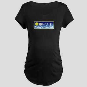 Mixed Forecast Maternity Dark T-Shirt