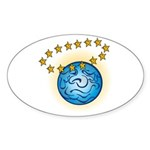 St.Earth Oval Sticker