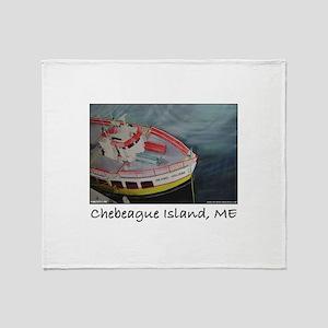Chebeague Island Ferry Throw Blanket