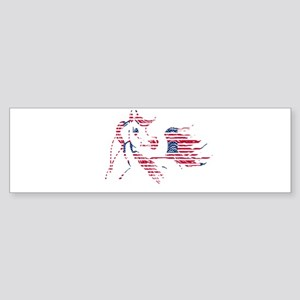 Patriotic Arabian Horse Sticker (Bumper)
