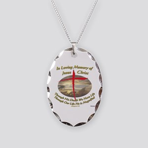 Phil 1:20 Necklace Oval Charm