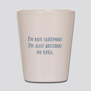 Resting My Eyes Shot Glass