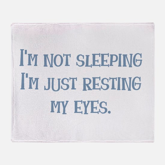 Resting My Eyes Throw Blanket