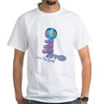 Save The Earth White T-Shirt