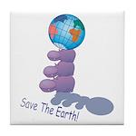 Save The Earth Tile Coaster