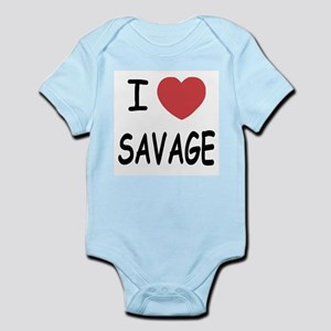 I heart savage Infant Bodysuit