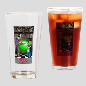 SteamPunk Alice Version 4 wit Pint Glass