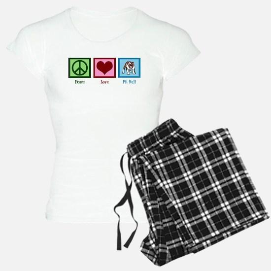 Peace Love Pit Bull Pajamas