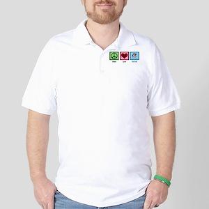 Peace Love Pit Bull Golf Shirt