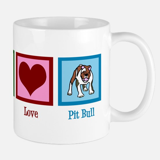 Peace Love Pit Bull Mug