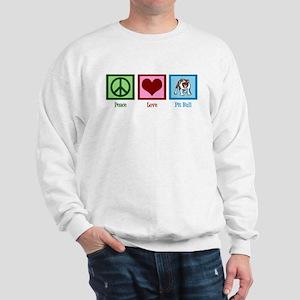 Peace Love Pit Bull Sweatshirt