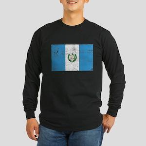 Guatamala Flag Long Sleeve Dark T-Shirt