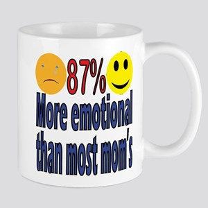 more emotional than most moms Mug