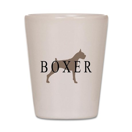 Boxer Dog Breed Shot Glass