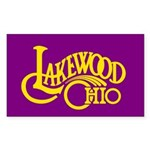 Lakewood Logo Sticker (Rectangle 50 pk)