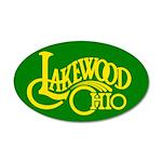 Lakewood Logo 22x14 Oval Wall Peel