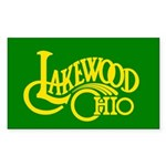 Lakewood Logo Sticker (Rectangle 10 pk)