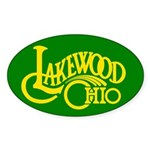 Lakewood Logo Sticker (Oval 50 pk)