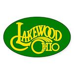 Lakewood Logo Sticker (Oval 10 pk)