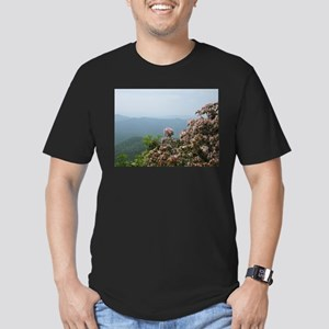 Blue Ridge Parkway Men's Fitted T-Shirt (dark)