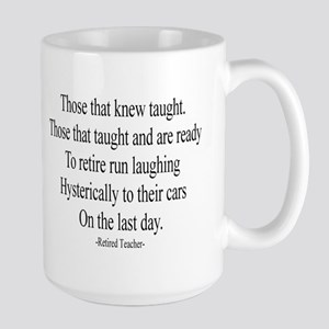 Retired Teacher Large Mug