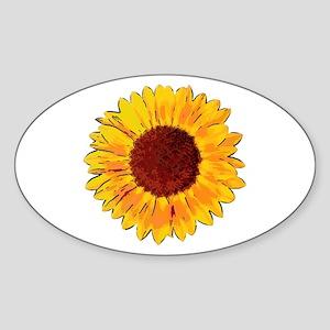 Sunflower Sticker (Oval)