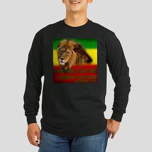 Rastafarian Lion Long Sleeve Dark T-Shirt