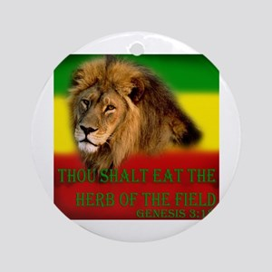 Rastafarian Lion Ornament (Round)