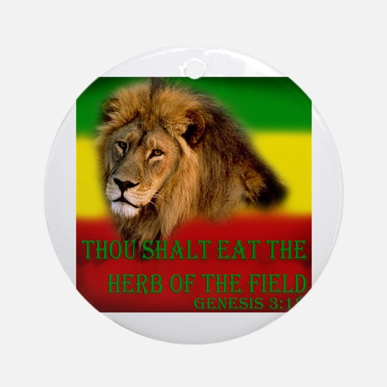 Rastafarian Lion Ornament (Round)
