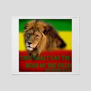 Rastafarian Lion Throw Blanket