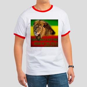 Rastafarian Lion Ringer T