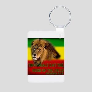 Rastafarian Lion Aluminum Photo Keychain