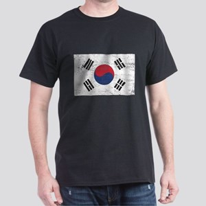 South Korea Flag Dark T-Shirt