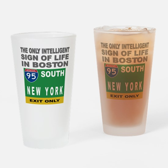 Boston Intelligence Pint Glass