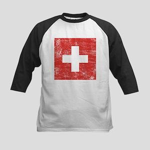 Switzerland Flag Kids Baseball Jersey