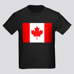Canadian Flag Kids Dark T-Shirt